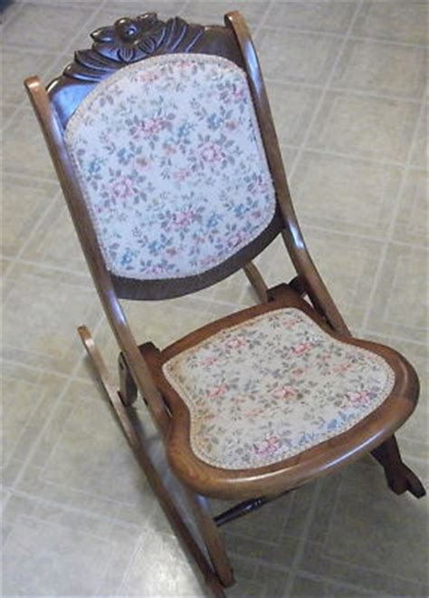 antique folding rocking chair wooden rocker antique