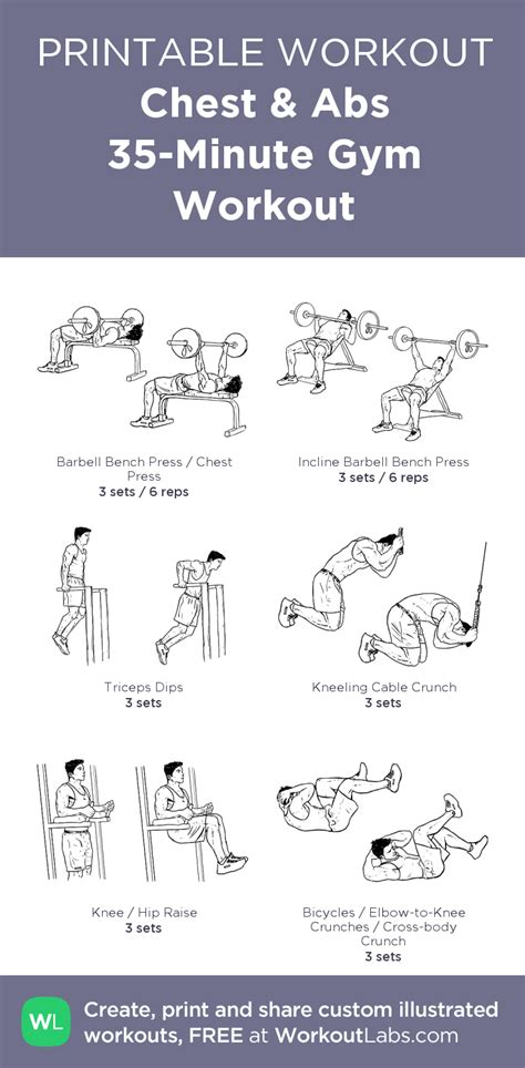 chest abs 35 minute workout my visual workout created at workoutlabs click through