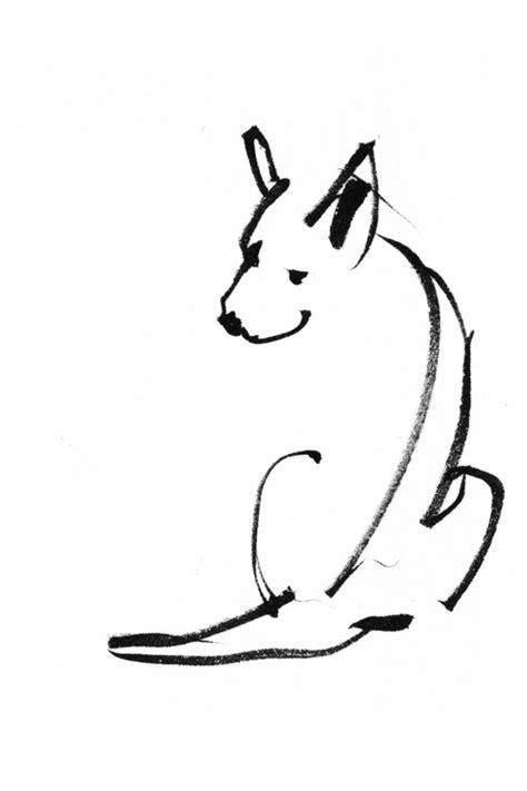 dog outline tattoo papir illustration camilla boman sl 230 dehunde
