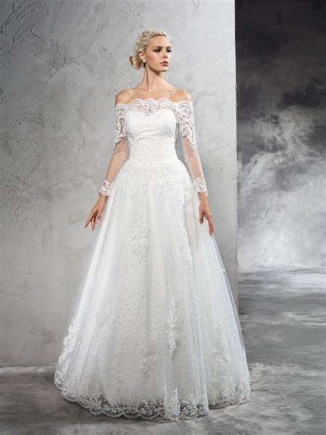 Simple Elegant Long Sleeve Wedding Dresses
