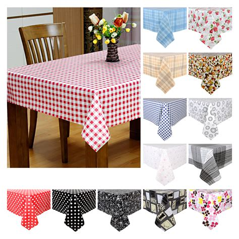 Kitchen Table Cover Wipe Clean Pvc Vinyl Tablecloth Dining Kitchen Table Cover Protector 140x240cm Ebay