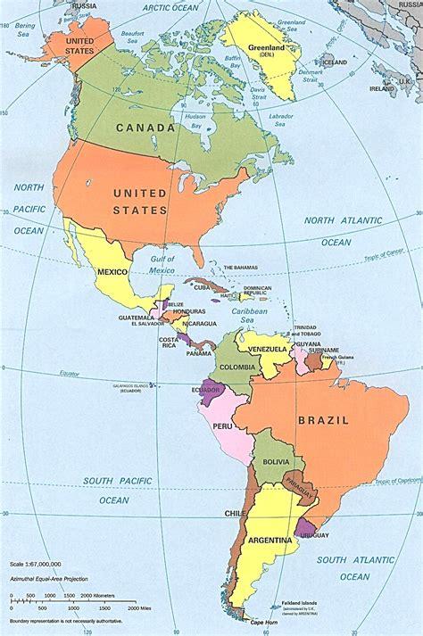 mapa america con division politica mapa de am 233 rica con divisi 243 n pol 237 tica mapa de am 233 rica