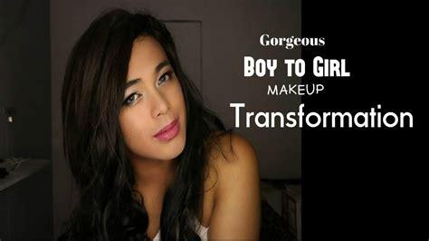 boy makeup like girl gorgeous boy to girl makeup transformation jandrogen