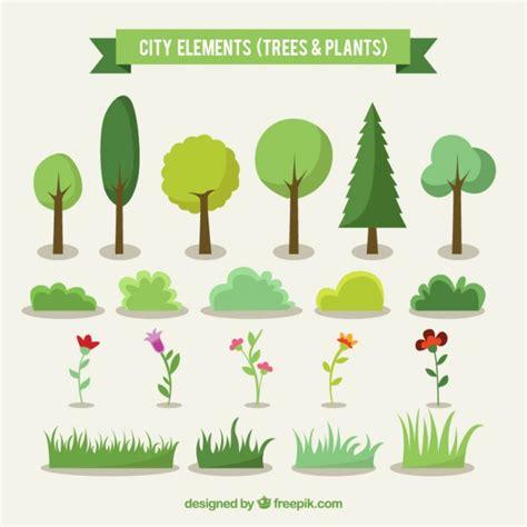dibujos infantiles con animales flores y plantas en 193 rboles y plantas de la ciudad descargar vectores gratis
