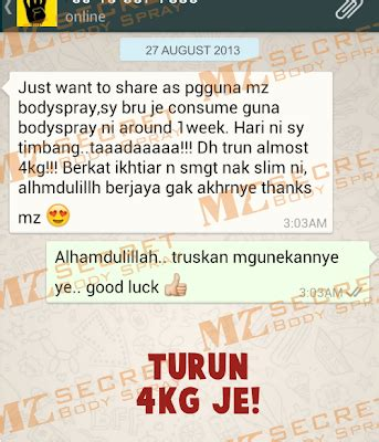 Harga Pasaran Secret Mist mz secret slim fat2fit mist spray termurah di pasaran