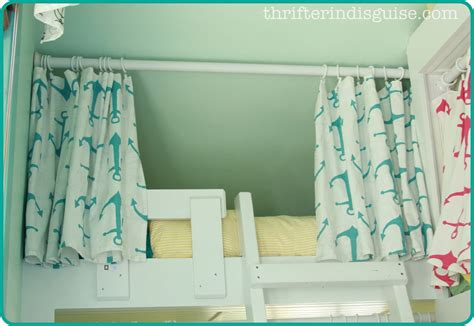 bunk bed drapes a thrifter in disguise easy sew diy bunk bed curtains