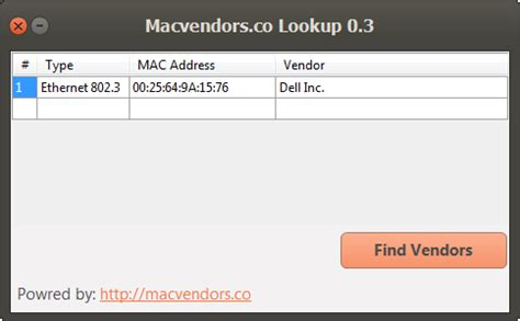 Mac Address Vendor Search View Topic Mac Address Vendor Lookup Tool And Website Networking Forum A