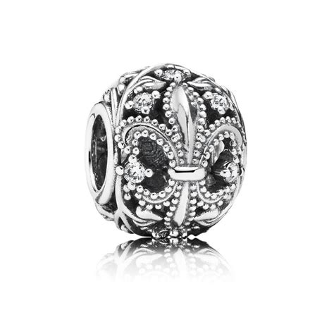fleur de lis charms for jewelry pandora fleur de lis openwork charm 791378cz pandora
