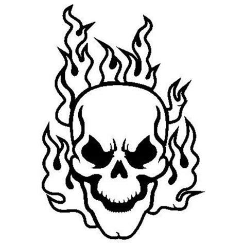 fire skull coloring page immagini da colorare teschi 4