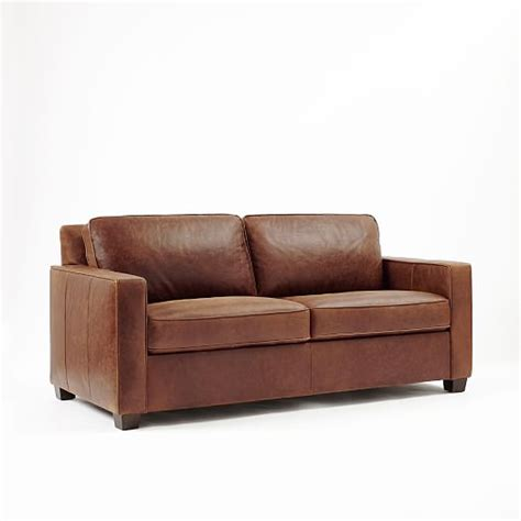 Henry Sofa by Henry 174 Leather Sofa Molasses West Elm