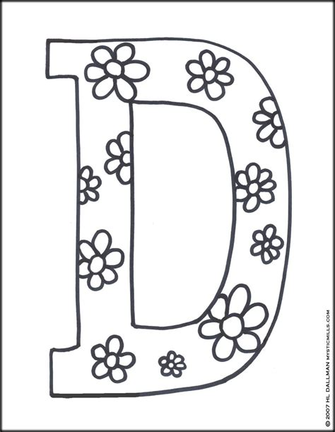 Alphabet D Coloring Pages by Printable Letter D Coloring Pages Only Coloring Pages