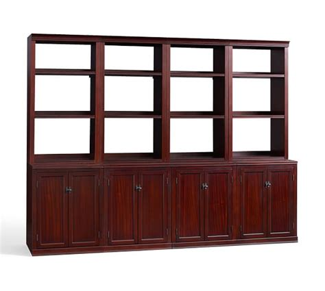 logan bookcase wall suite pottery barn