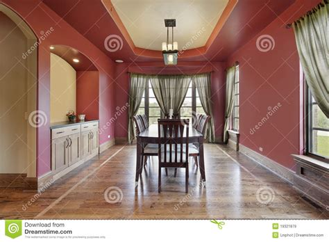 red dining room walls dining room with red walls royalty free stock images