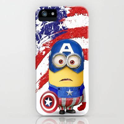 Despicable Me Captain America Minion V1479 Iphone 5 5s Se Casing Pr 17 best images about cell phone cases on eeyore captain america and