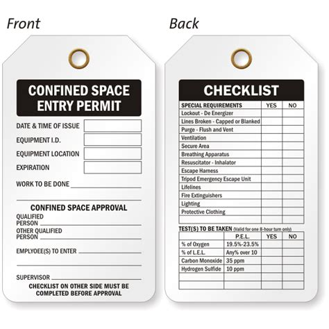 confined space card template lockout tagout procedure template lockout tagout
