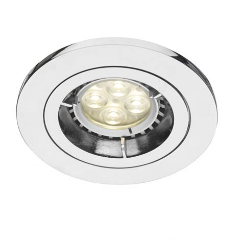 Lighting Spotlights Ceiling Apache Insulated Polished Chrome Downlight Or Recessed Spotllight