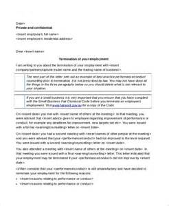Letter Of Terminating Employment Contract Sle Contract Termination Letter 5 Documents In Word