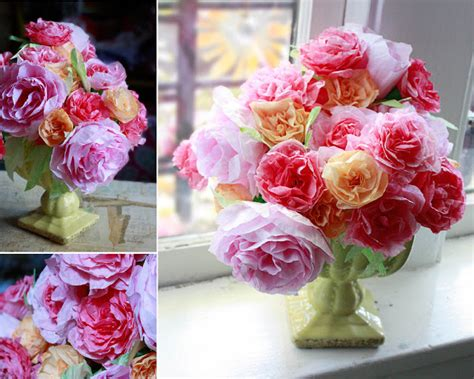 How To Make Paper Flowers Out Of Coffee Filters - transform flowers to look real in my own style