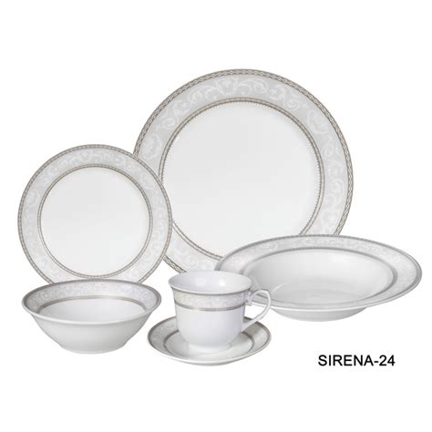 porcelain dinnerware set 24 service for 4 by lorren