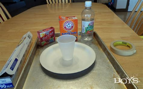 How To Make Paper Look With Vinegar - simple science easy baking soda volcano the joys of boys