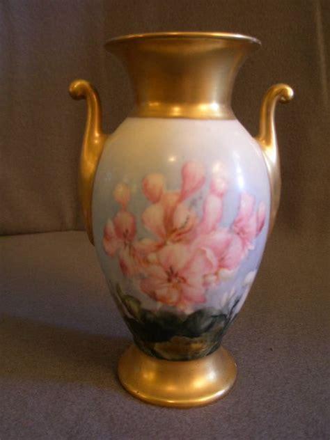 Bavaria Vase Antiques by Bavaria Painted Urn Shaped Vase W Floral Motif