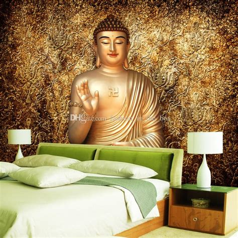 buddha wallpaper for bedroom golden buddha photo wallpaper buddhist temple wall mural