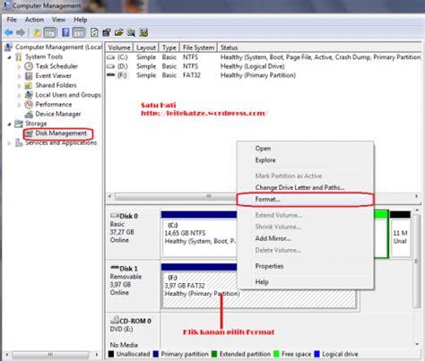 format fat32 ke ntfs cara merubah format usb flashdisk dari fat fat32 ke ntfs