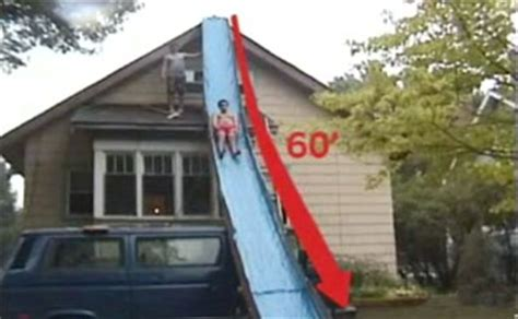 slide house 60 foot slip and slide