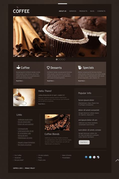 Coffee Shop Joomla Template 40674 Coffee Shop Template