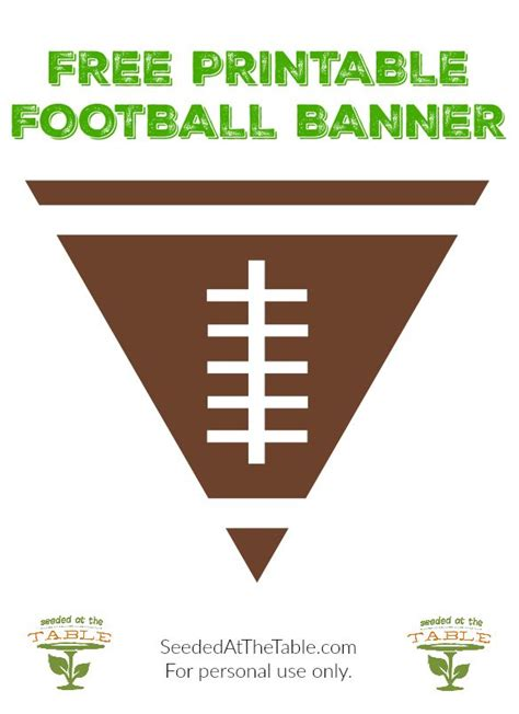 printable football banner free printable football banner perfect for your
