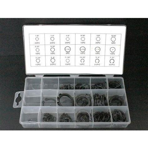 seeger per interni set di anelli elastici seeger interni esterni assortiti
