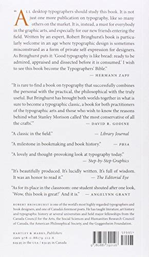the elements of typographic 0881792128 the elements of typographic style design book by robert bringhurst