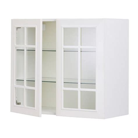 faktum wall cabinet with 2 glass doors st 229 t white