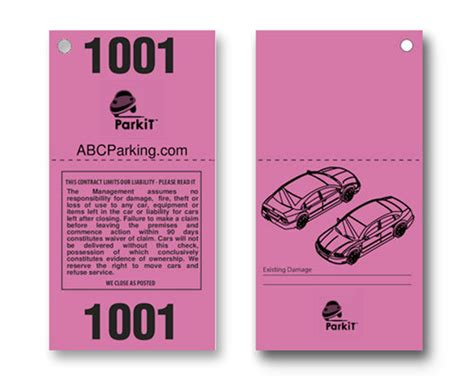 printable valet tickets buy design it yourself 2 part valet tickets