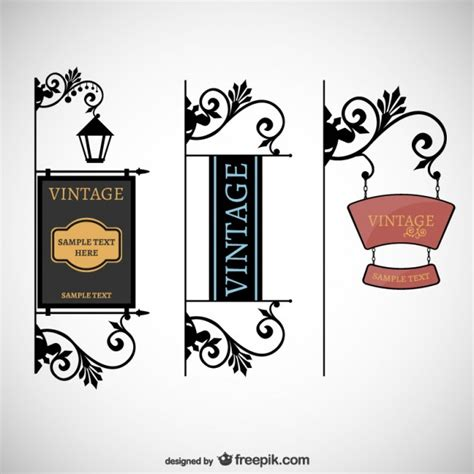 imagenes vectores gratis vintage letreros estilo vintage descargar vectores gratis