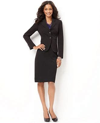 classic black blazer with pencil skirt s