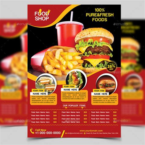 20 restaurant and food flyer template psd ai and vector