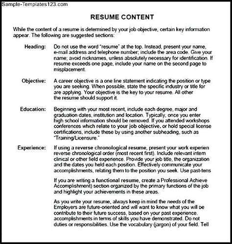 resume guide pdf sle templates