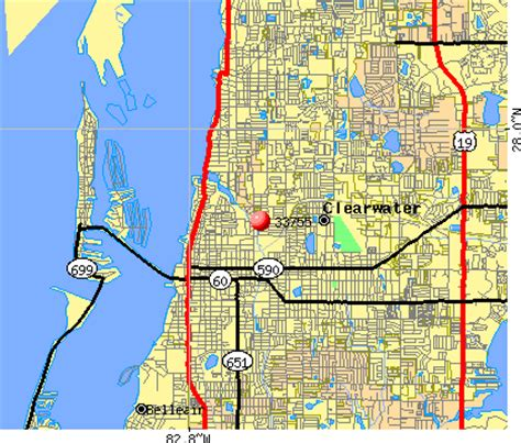 zip code map clearwater fl map of clearwater fl my blog