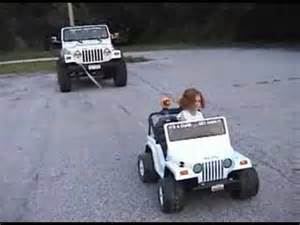 Power Wheels Jeep 4x4 Power Wheels Jeep Pulling Real Jeep 4x4