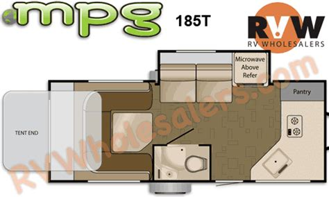 heartland mpg floor plans 2011 heartland rv heartland mpg 185t travel trailer the