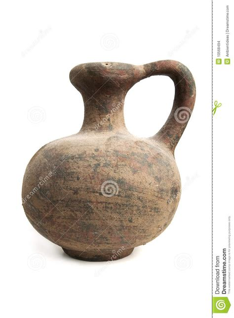 an antique urn with more elaborate designs and clay vase stock images image 10568494