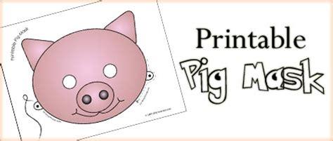 printable pig mask printable animal masks pig mask woo jr kids activities
