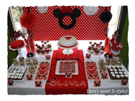 And Black Minnie Mouse Decorations by Minnie Mouse Birthday Ideas Photo 5 Of 24 Catch
