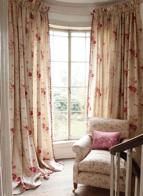 roses curtains roses curtains and sprig chair with josephine red cushion