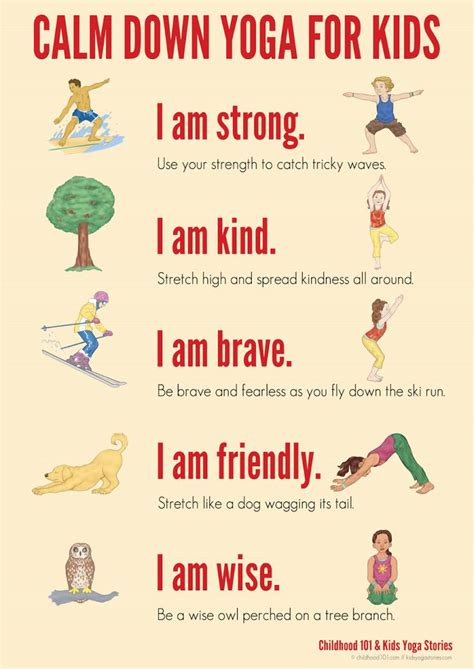 yoga for kids free printable poster collection 50 best images about mama y nana y doby on pinterest