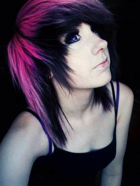 dyed emo hairstyles 1792 best scene girl images on pinterest colourful hair