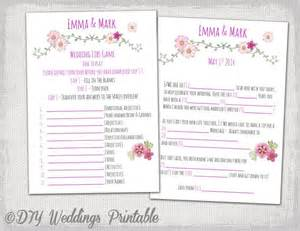 printable wedding mad libs template wedding mad libs
