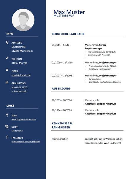 Bewerbungs Lebenslauf Vorlage by Bewerbung Kostenlose Lebenslauf Vorlagen Anschreiben