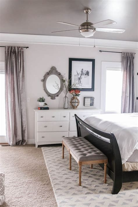 fixer style master bedroom